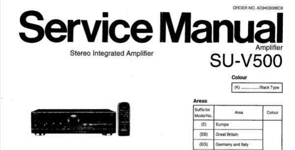 TECHNICS SU-V500 STEREO INTEGRATED AMPLIFIER SERVICE