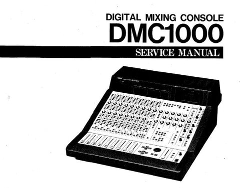 YAMAHA DMC1000 DIGITAL MIXING CONSOLE SERVICE MANUAL INC PCBS BLK DIAGS WIRING DIAG CIRC DIAGS AND PARTS LIST 238 PAGES ENG
