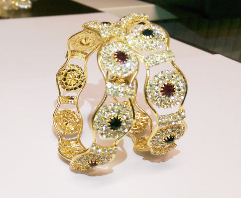 Buy Stone Bangles Online - Indian Fashion Jewellery Online - 1