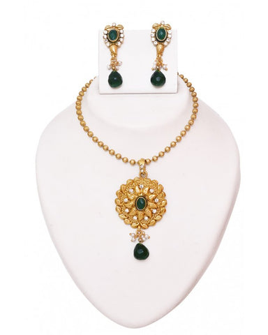 Necklace Set - RE125 - Indian Fashion Jewellery Online