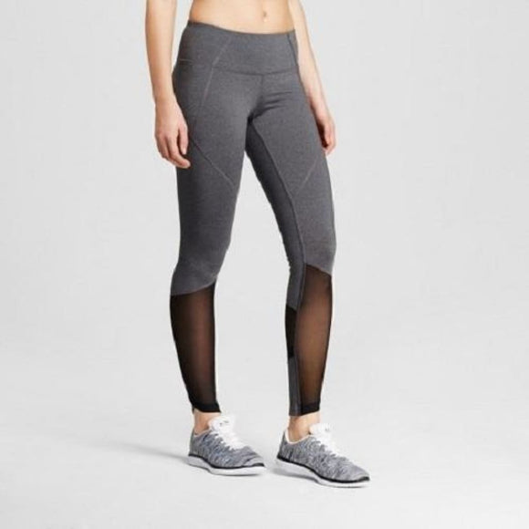 Champion C9 B9204 Premium Mesh Pieced Leggings XL X-LARGE Heather Gray & Black - Better Bath and Beauty