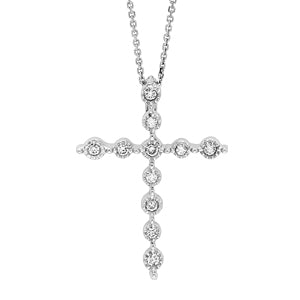 14 KY diamond cross necklace