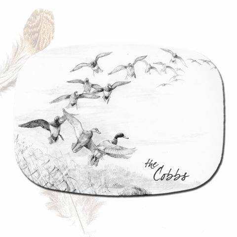 Waterfowl Melamine Platter & Set of Four Assorted Plates
