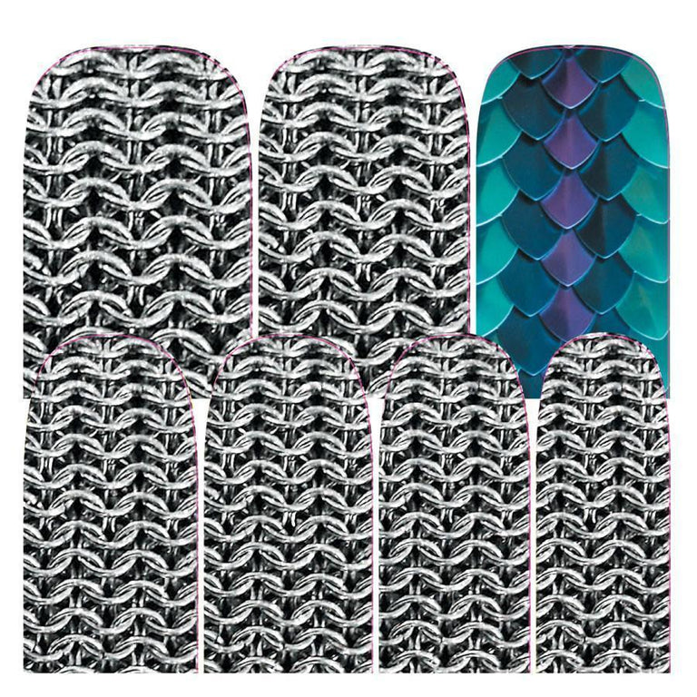 Chainmail-Nail Wraps-Espionage Cosmetics