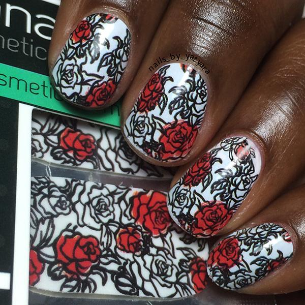 Paint The Roses Red-Nail Wraps-Espionage Cosmetics