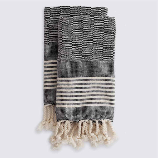 Set of Edie Hand Towels | Charcoal
