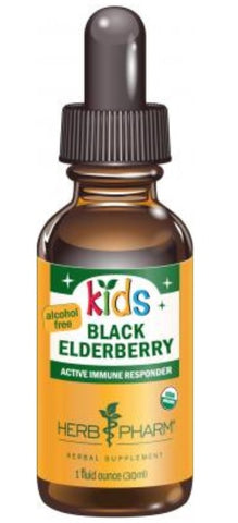 HERB PHARM ORGANIC KIDS BLACK EDLERBERRY GLYCERITE, 4 OUNCES