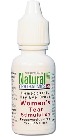 Natural Ophthalmics Homeopathic  Dry Eye Women's Tear Stimulation Drops, 15mL
