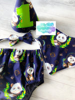 Geo Panda Navy Baby Cake Smash Set / First Birthday Outfit