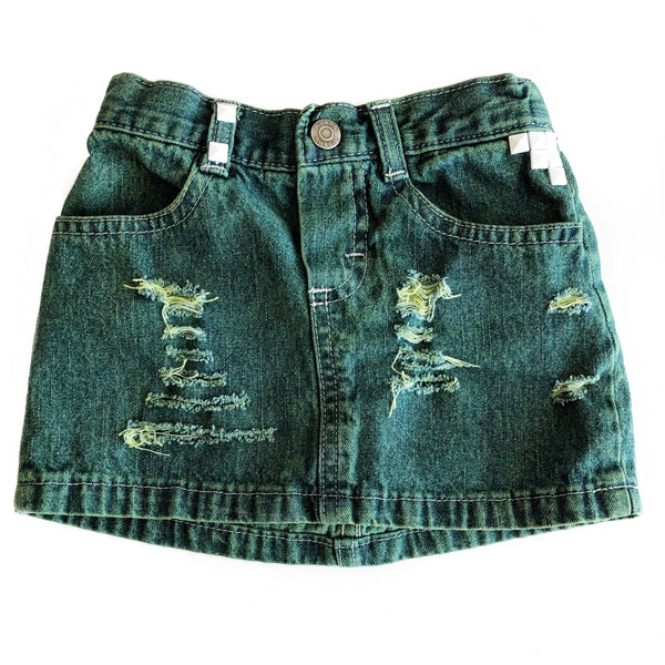 Girls Distressed Denim Shorties and Skirts