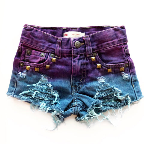 Mermaid Distressed and Dyed Shorties