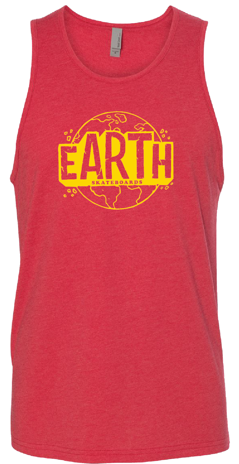 Red and Yellow Earth Tank Top - Jason Devore
