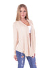 Long Sleeves Knit Cardigan Flyaway Plain Basic
