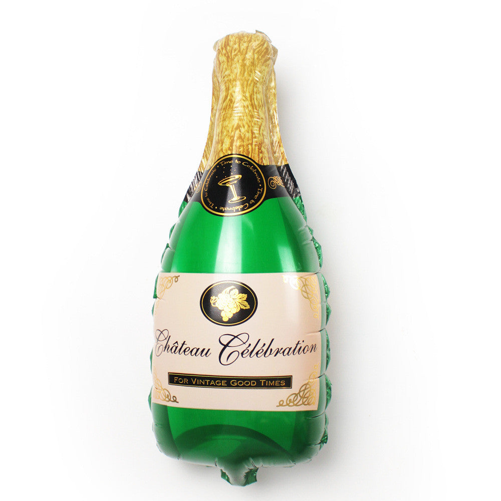 Champagne Bottle Super Shape Mylar Balloon