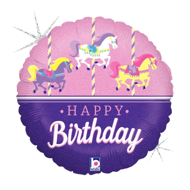 B062 - 37803 Carousel Birthday Foil Balloon