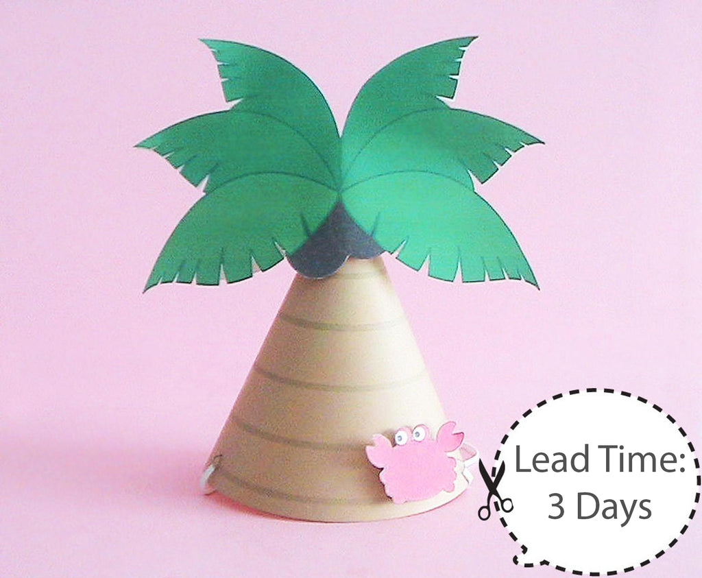 Luau Party Hats (10 pcs)