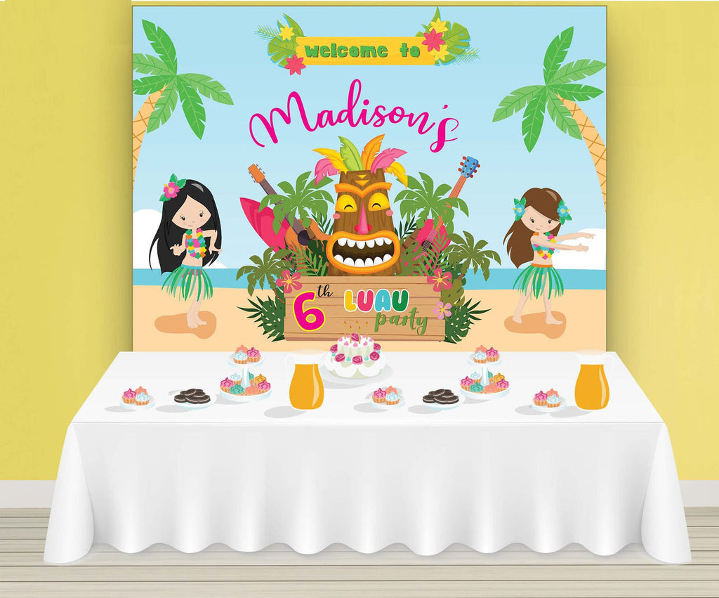 Luau Backdrop