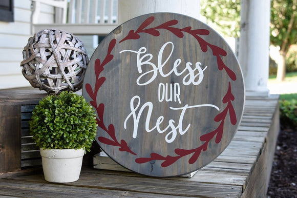 FREE SHIPPING!!!   Bless our nest wood sign.  Bless our nest, our nest, housewarming gift  I  Wood sign