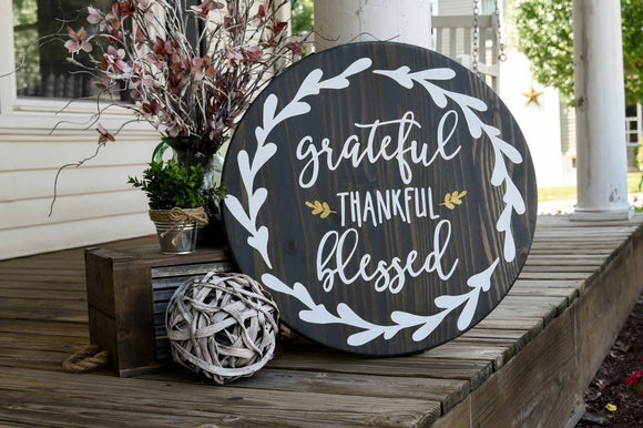 FREE SHIPPING!!!   Grateful thankful blessed wood sign  I  Grateful sign  I  Fall sign  I  fall decor  I  home decor  I  wall hangings  I  wood wall art