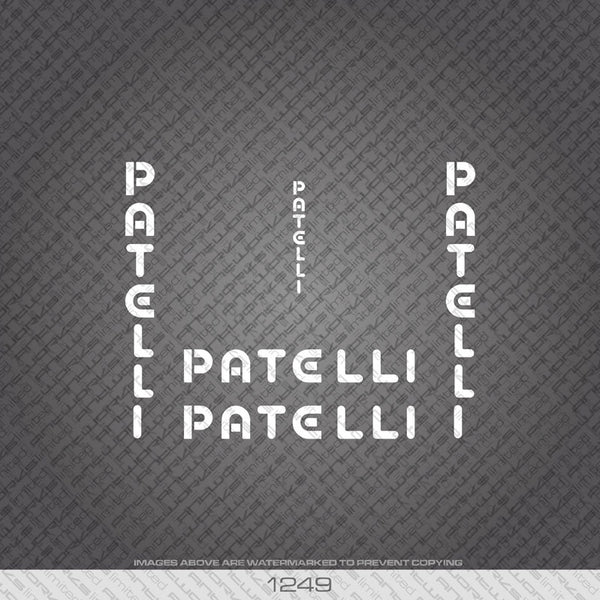 Patelli Bicycle Decals - www.bicyclestickers.co.uk