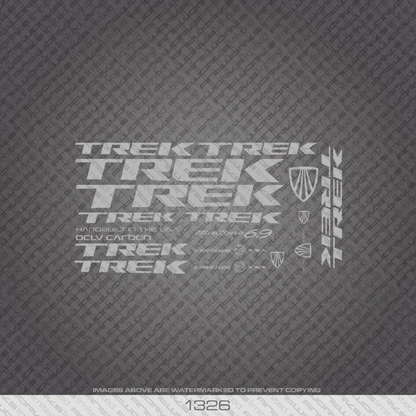 Trek Madone 6.9 Bicycle Decals - Silver - www.bicyclestickers.co.uk