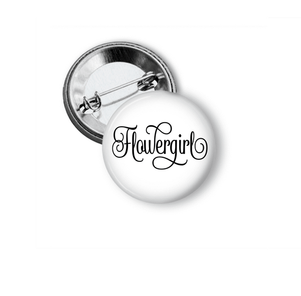 Pin Back Button - Flowergirl - Clowdus Creations