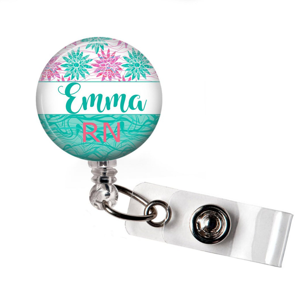 Pink and Blue Badge Reel