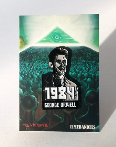 George Orwell 1984 Enamel Pin - by Mear One x TIMEBANDITS