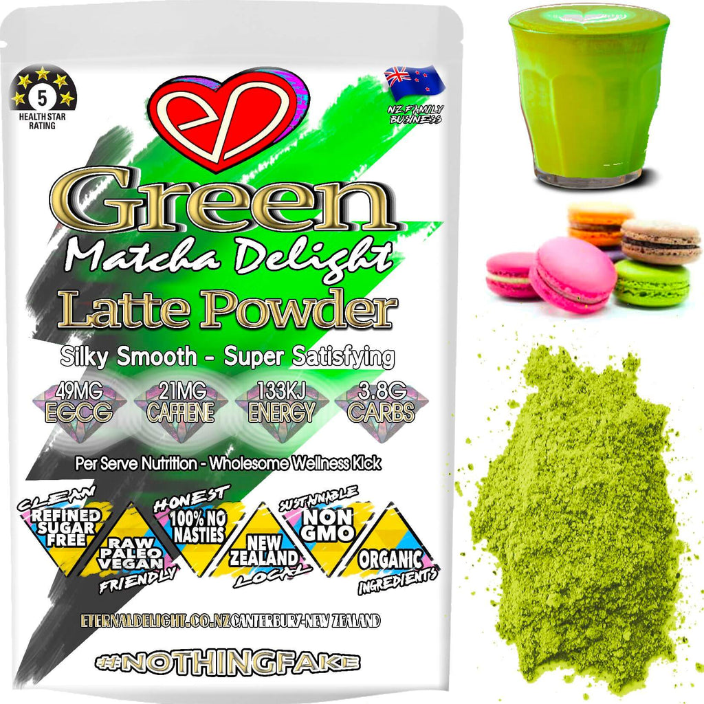 A Delightfully Functional, Yet Rich and Velvety Organic Green Wellness Powder that Tastes Yummy and Makes for a Delicious Matcha Latte or NZ Super Smoothie.