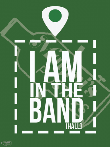 I'm in the band hall!