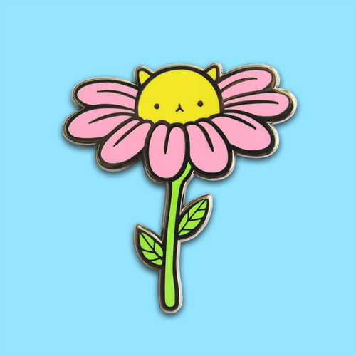Daisy Kitty Enamel Pin