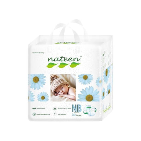 Nateen Baby Diapers NB - Carton 8x20's