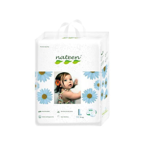 Nateen Baby Diapers L - Carton 2x64's