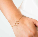 Gold  Joint Circle Stacking Bracelet