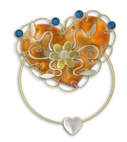 Turquoise Heart Clips-Over-The-Page Bookmark @ www.art-soulworks.com