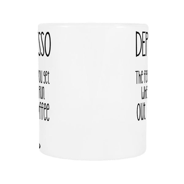 Depresso Coffee Mug, Drinkwear, teelaunch, Viper Coffee