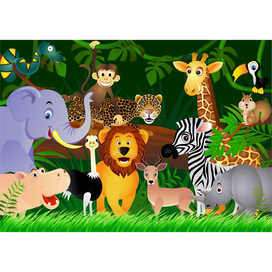 Animals in the Jungle Wall Murals