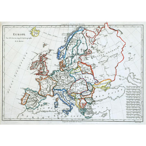 Old Map of Europe Wall Mural