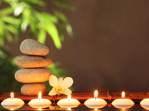 Zen Stones and Candles Wall Mural
