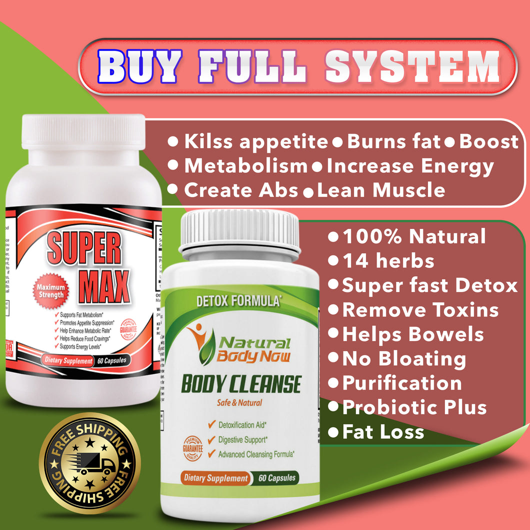 (6) FULL SYSTEM BODY CLEANSE AND SUPERMAX - Free Shipping