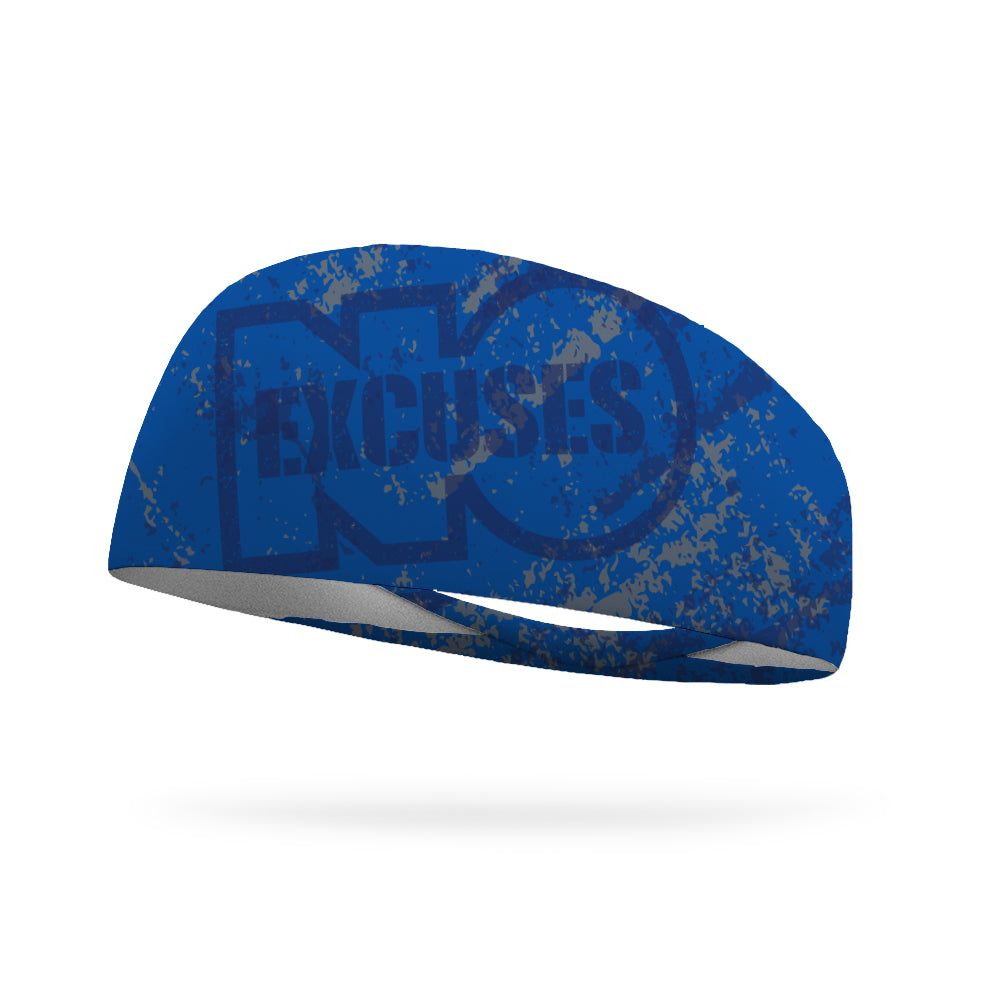 No Excuses Distressed Wicking Headband