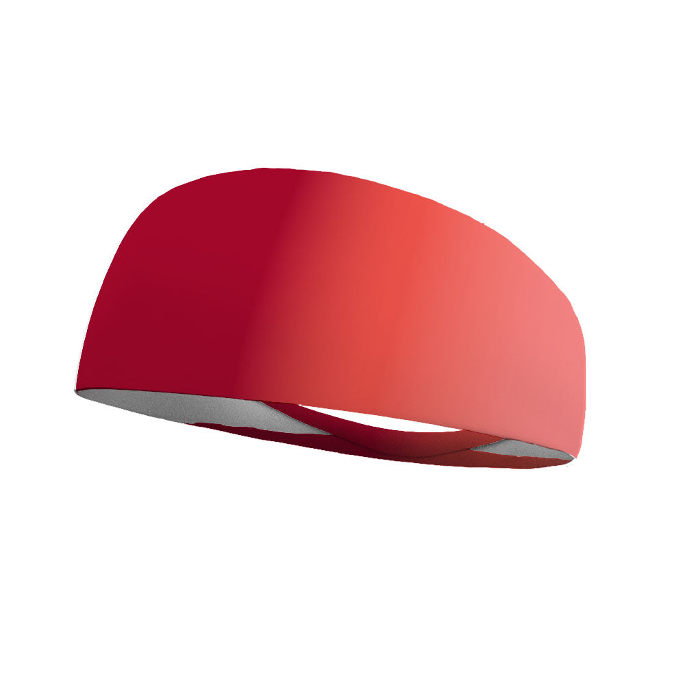Ombre Coral Red Wicking Performance Headband
