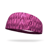 Pink and Violet Static Fashion Headband