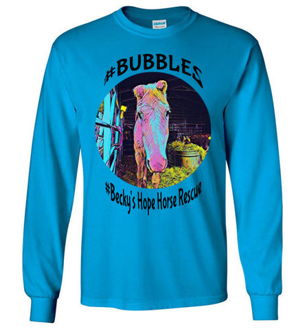 Becky's Hope Horse Rescue #Bubbles Long Sleeve T-shirt - Furbabies.love - 1