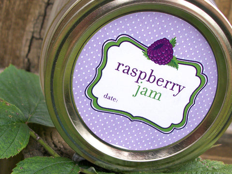 Black Raspberry Jam Canning Labels | CanningCrafts.com