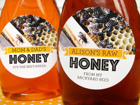 Busy Bees Custom Honey Labels | CanningCrafts.com