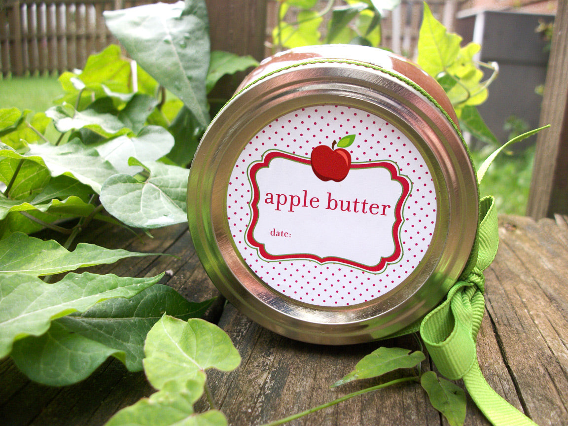 Apple Butter Canning Labels | CanningCrafts.com