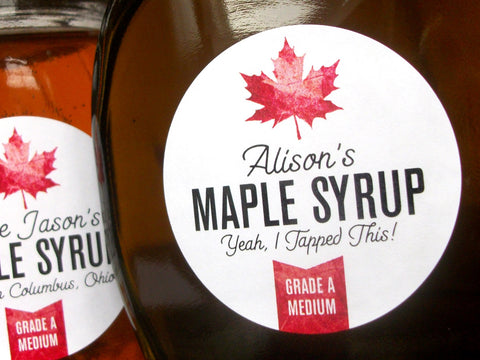 custom Maple Syrup labels | CanningCrafts.com