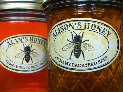Custom Vintage Seal Oval Honey Jar Labels | CanningCrafts.com
