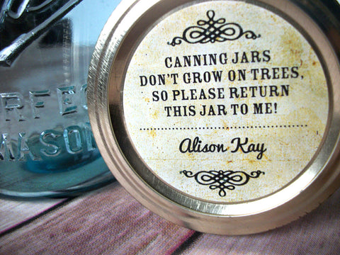 Vintage return jar canning labels | CanningCrafts.com